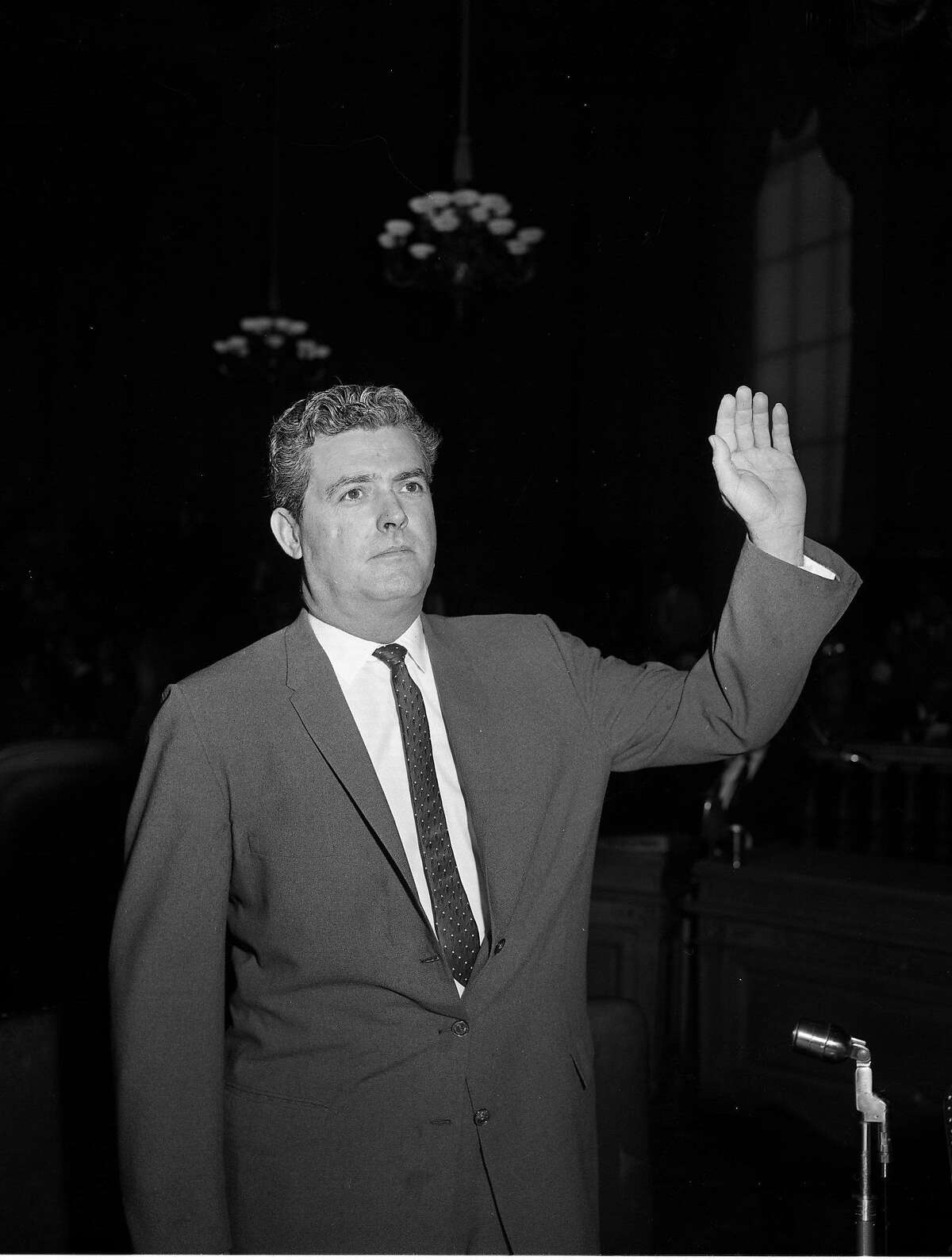 William A. Wheeler, Investigator for the House UnAmerican Activities Committee, here to testify, May 14, 1960