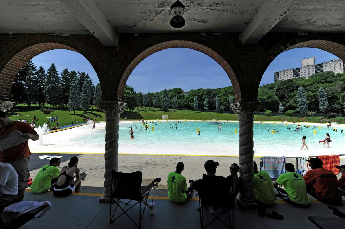 The Lincoln Park Pool in Albany is open. (Skip Dickstein/Times Union)