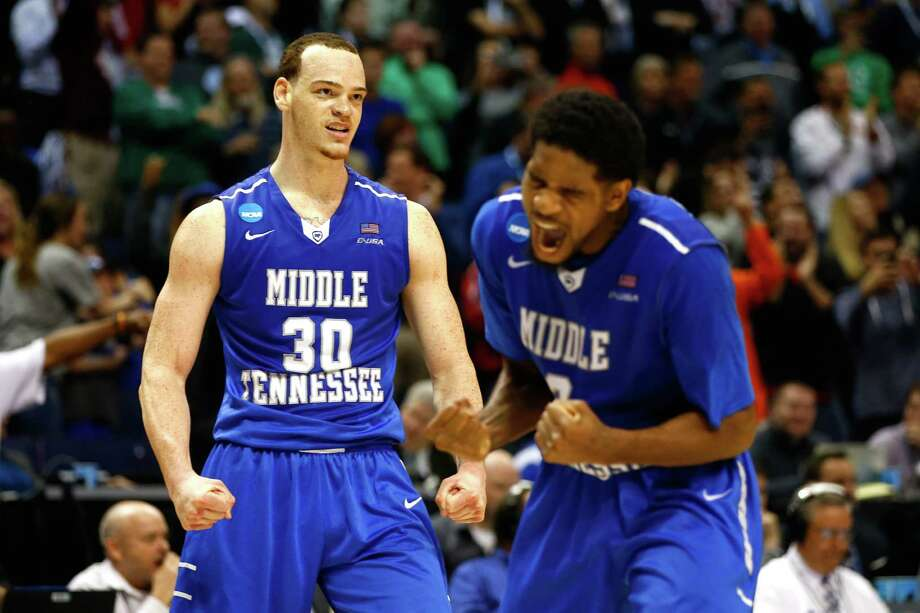 Reggie Upshaw (30) scored 18 of his 20 points in the second half to help lead Middle Tennessee over Rice. Photo: Jamie Squire, Getty Images / 2016 Getty Images