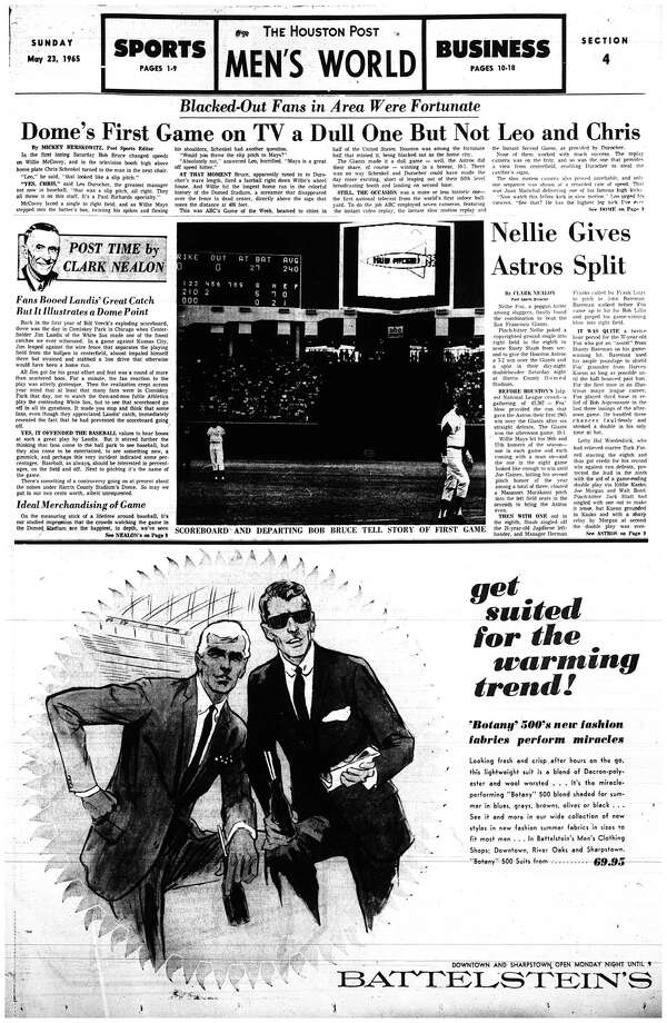 Houston Post inside page:  May 23, 1965 - section 4, page 1. Photo: HP Staff / Houston Chronicle
