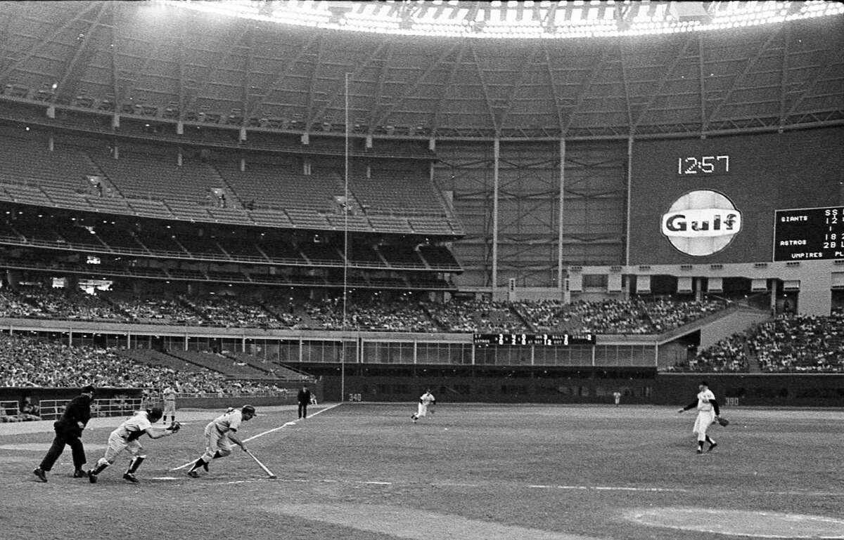 The first national telecast from the world's first indoor baseball stadium - the Astrodome - featured the Astros against the San Francisco Giants on May 22, 1965.
