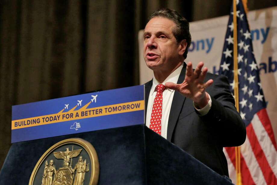 New York Gov. Andrew Cuomo makes an infrastructure announcement about JFK International Airport during the Association for a Better New York luncheon, in New York, Wednesday, Jan. 4, 2017. (AP Photo/Richard Drew) Photo: Richard Drew / AP