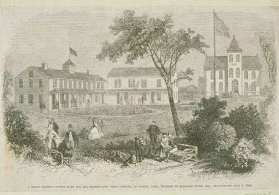Fitch's Home for Soldiers, ca. 1864. Photo: Connecticut Historical Society And Connecticut History Online