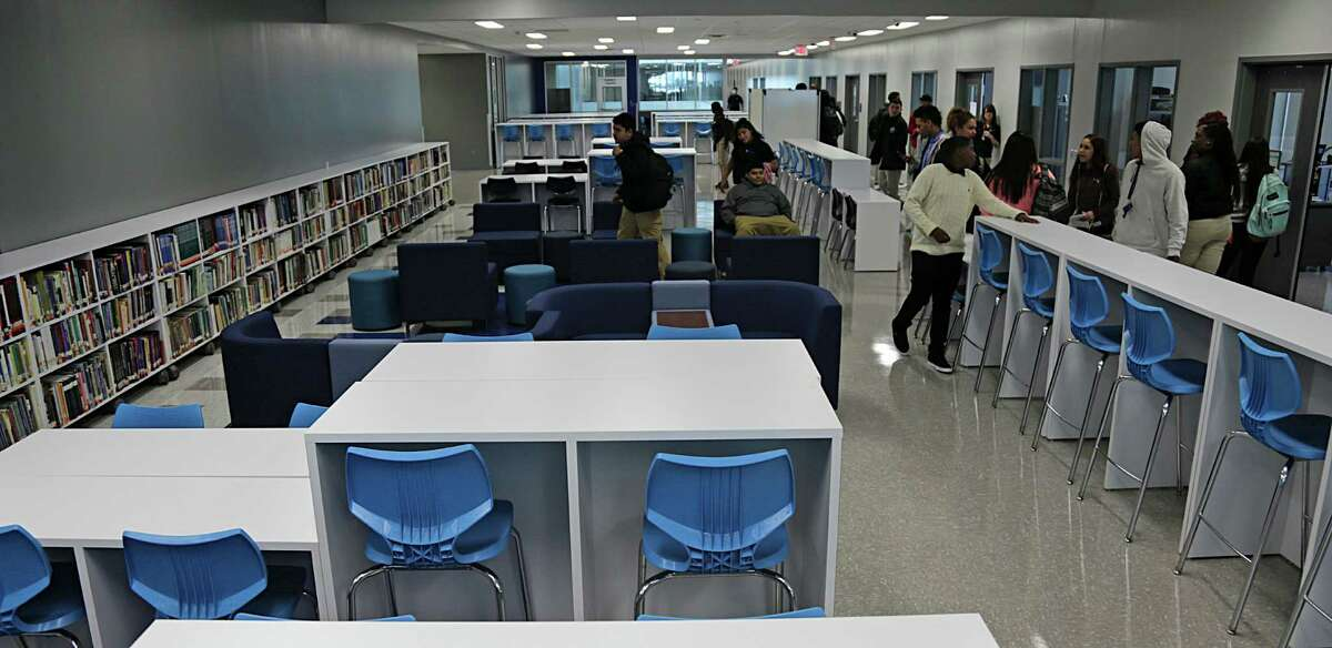 A commons work area at HISD's Sterling Aviation High School Jan. 4, 2017, in Houston.