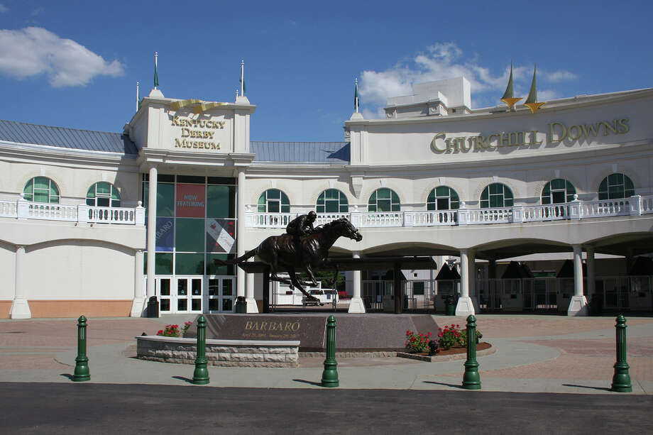 The entrance to the Kentucky Derby Museum and Churchill Downs.