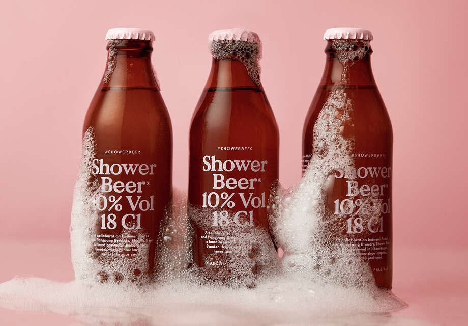 Shower beer, a tiny beer designed specifically for drinking in the shower. Photo: Courtesy Of Snask