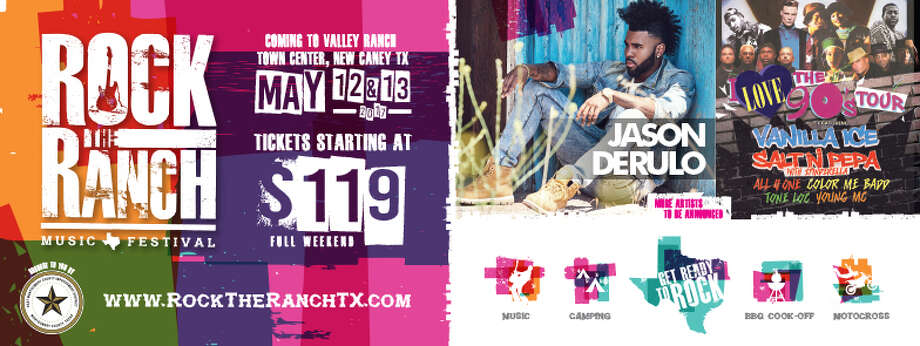 The first wave of headliners was released Friday, Jan. 6 for the two-day Rock the Ranch Music Festival to be held May 12 and 13 at the amphitheater in Valley Ranch Town Center in New Caney. Photo: Courtesy Of 542 Entertainment Inc.