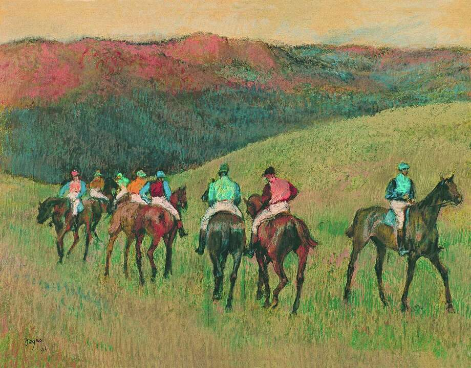 """Racehorses in a Landscape"" is among the works on view in ""Degas: A New Vision"" through Jan. 16 at the Museum of Fine Arts, Houston. Photo: Museum Of Fine Arts, Houston"