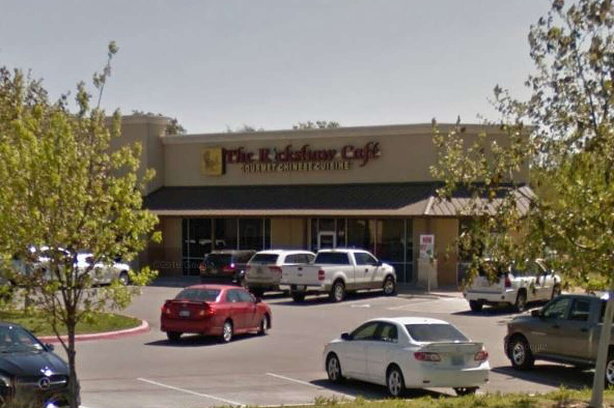 The Rickshaw Café: 8202 N. FM 1604 W., San Antonio, Texas 78249Date: 05/23/2017 Score: 72Highlights: Raw-shelled eggs not stored at the correct temperature, chicken not properly cooled, food not protected from cross contamination (raw meats stored above cooked foods and vegetables), toxic chemicals stored directly over food containers, no Certified Food Manager (CFM) present at time of inspection.