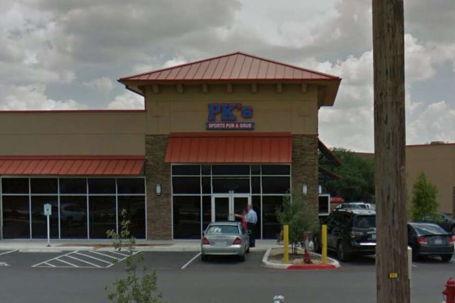 PK's Sports Pub & Grub:8338 N. 1604 W., San Antonio, Texas 78249Date: 01/02/2017 Score: 77Highlights: Soda nozzles need cleaning, mold growth seen inside the walk-in cooler, no soap or paper towels available at hand washing sinks, dirty utensils were stored with clean utensils. Photo: Google Maps