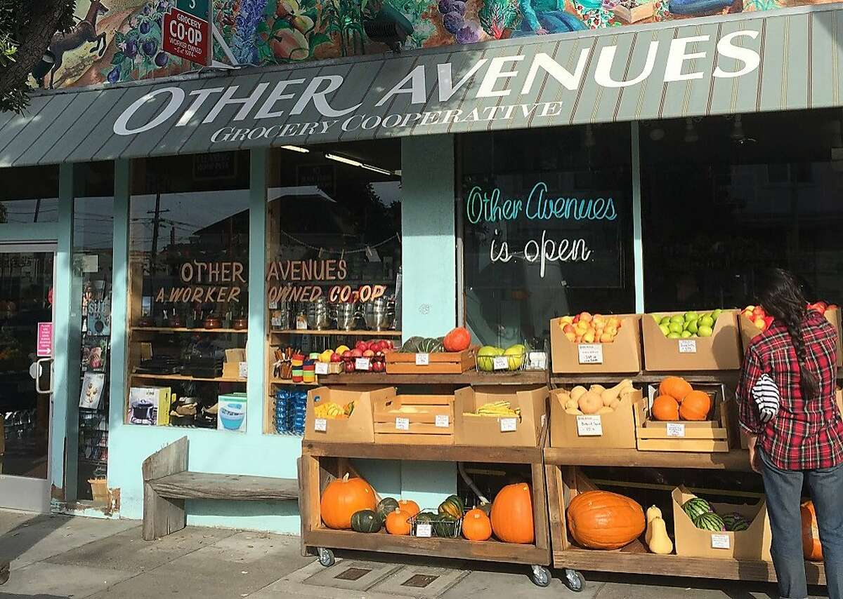The exterior of Outer Avenues food co-op in the Inner Sunset district of San Francisco