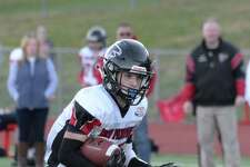 Austin Andersen of Wilton was a Captain of the New Fairfield Falcons Pop Warner football team that won the Division III U14 Unlimited National Championship with a 30-0 victory over the East Cleveland (OH) Chiefs last month.