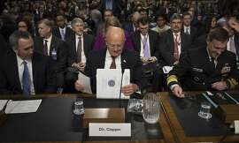 James Clapper, the Director of National Intelligence, testifies at a Senate Armed Services Committee hearing on foreign cybersecurity threats, on Capitol Hill in Washington, Jan. 5, 2017. Clapper said  that �our assessment now is even more resolute� that the Russians interfered in the election. (Stephen Crowley/The New York Times)