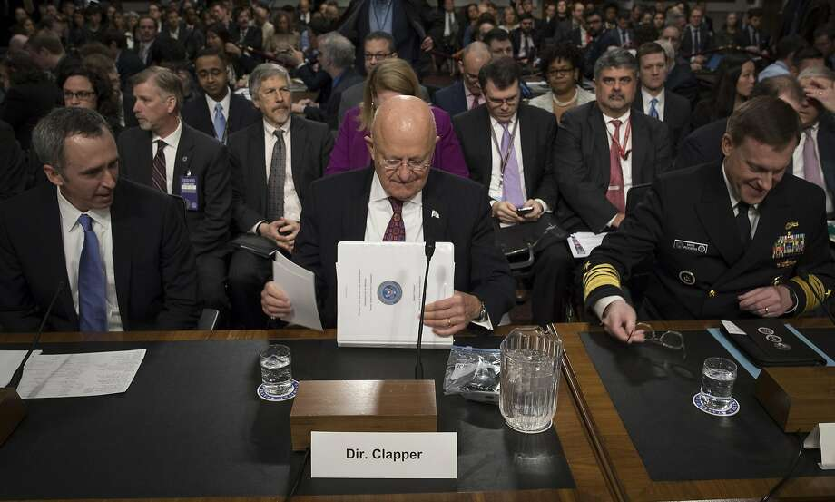 "James Clapper, the Director of National Intelligence, testifies at a Senate Armed Services Committee hearing on foreign cybersecurity threats, on Capitol Hill on Thursday. Clapper said that ""our assessment now is even more resolute"" that the Russians interfered in the election. Photo: STEPHEN CROWLEY, NYT"
