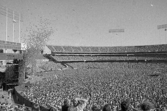 Rolling Stones concert at Oakland Coliseum July 26, 1978.