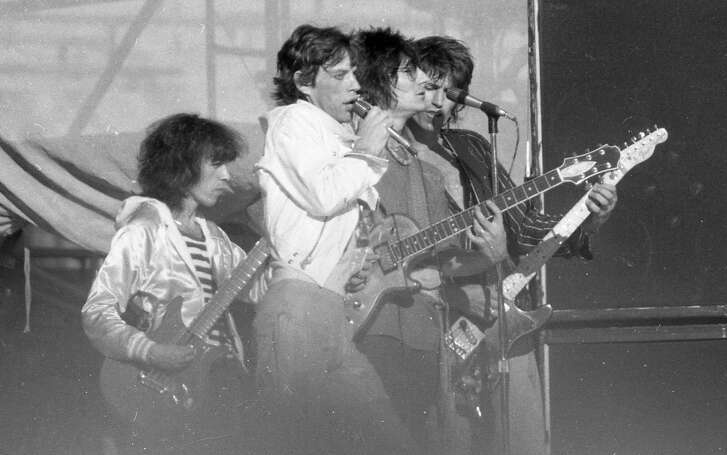 July 26, 1978: The Rolling Stones play at the Oakland Coliseum at Day on the Green 4, which was also Mick Jagger's birthday.