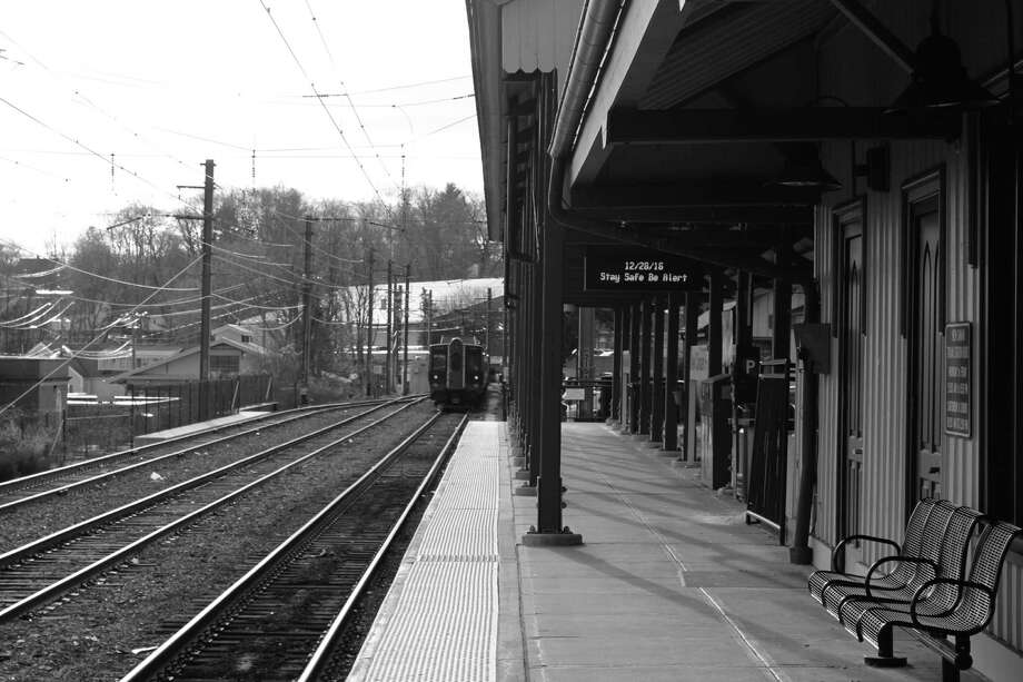 A Metro North train pulls out of New Canaan Train Station on the afternoon of Dec. 28 in New Canaan. Photo: Justin Papp / Hearst Connecticut Media / New Canaan News