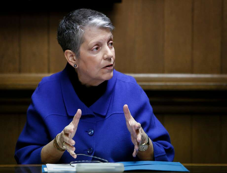 UC President Janet Napolitano meets with the Chronicle Editorial Board on Friday, Jan. 6, 2017 in San Francisco, Calif. Photo: Russell Yip, The Chronicle