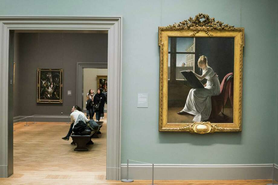 Marie Denise Villers' 1801 portrait of Marie Josephine Charlotte du Val d'Ognes in Gallery 613 at the Metropolitan Museum of Art, in New York, Dec. 4. The portrait is among a number of remarkable depictions of women in power at the museum that can be found within the span of a lunchtime. Photo: Damon Winter /NYT / NYTNS
