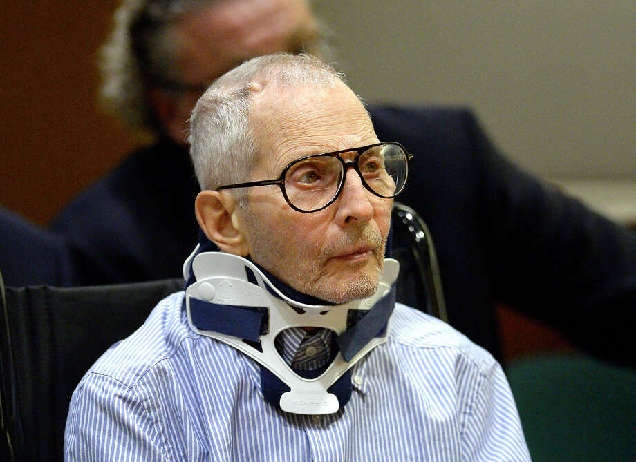 FILE - In this Nov. 7, 2016, file pool photo, real estate heir and documentary star Robert Durst sits during his arraignment at the Airport Branch Courthouse in Los Angeles. Los Angeles prosecutors say Durst is a danger to witnesses in his murder case. Prosecutors will ask a judge Friday, Jan. 6, 2017, to let them preserve testimony from several witnesses in case they get killed before any trial. (AP Photo/Reuters, Kevork Djansezian, Pool, File) Photo: Kevork Djansezian, POOL / Pool, Reuters