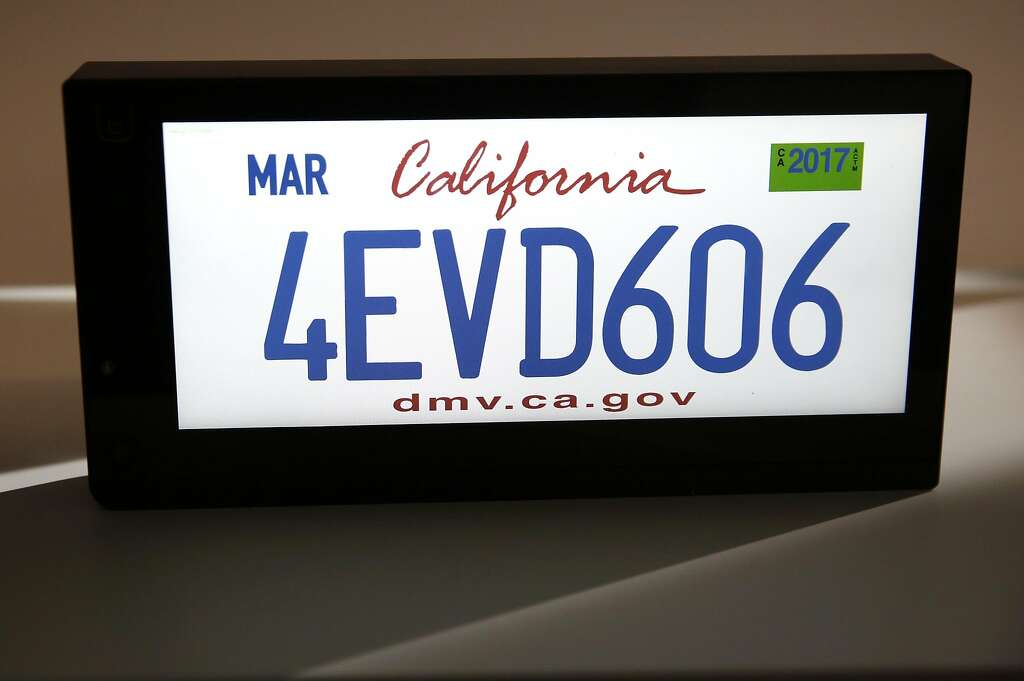 Startup plans digital license plates - SFGate