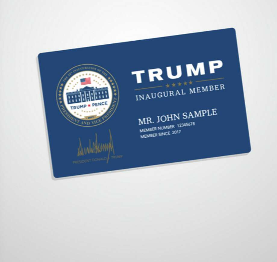 Official Trump Inaugural Membership Card (min. donation, $35): No word as to whether the personalized actually gets you into the inauguration (we're assuming it doesn't).