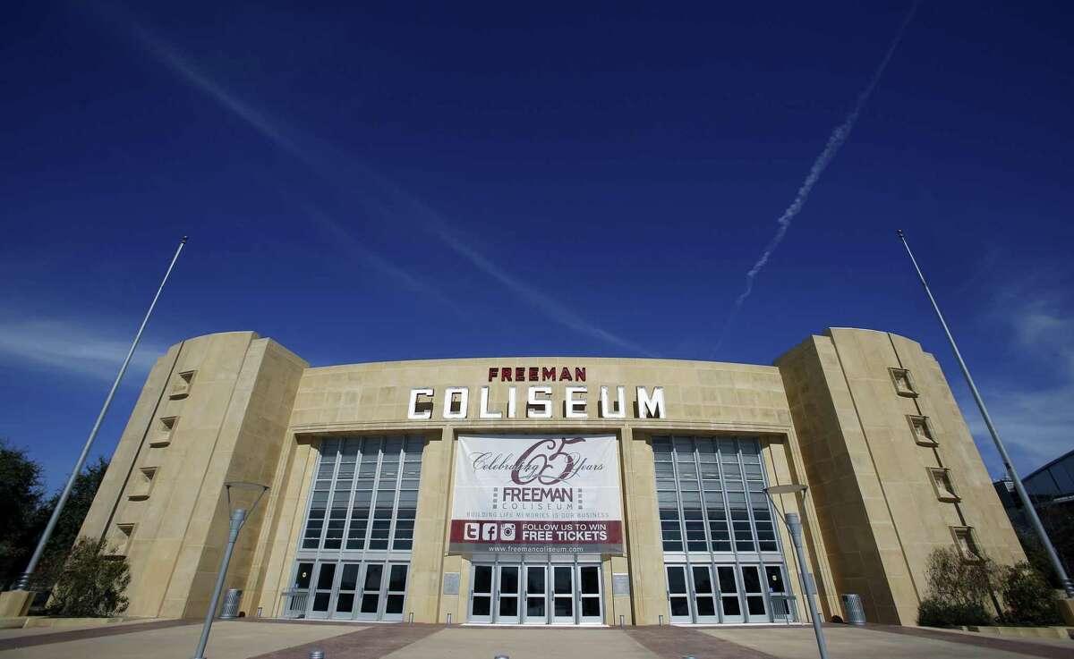 Freeman Coliseum: 3201 E. Houston, San Antonio, TX 78219 Date:Feb. 24, 2017 Violation: Selling or serving alcohol to a minor Punishment: Restrained