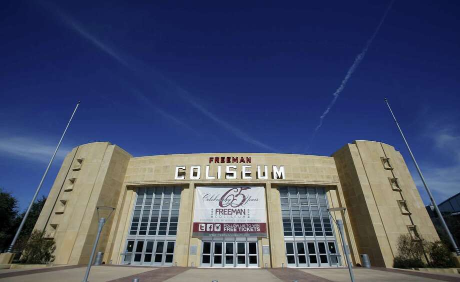 Overcrowding Saturday at Freeman Coliseum caused delays for friends and family members trying to enter the East Central High School graduation ceremony. Photo: William Luther /San Antonio Express-News / © 2015 San Antonio Express-News