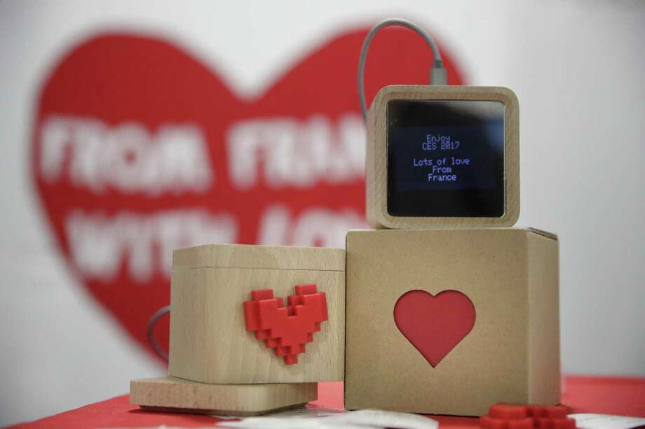 LoveBox devices are on display at the CES tech show Friday in Las Vegas. The device is designed to receive private messages through an internet connection. Photo: Jae C. Hong /Associated Press / Copyright 2017 The Associated Press. All rights reserved.