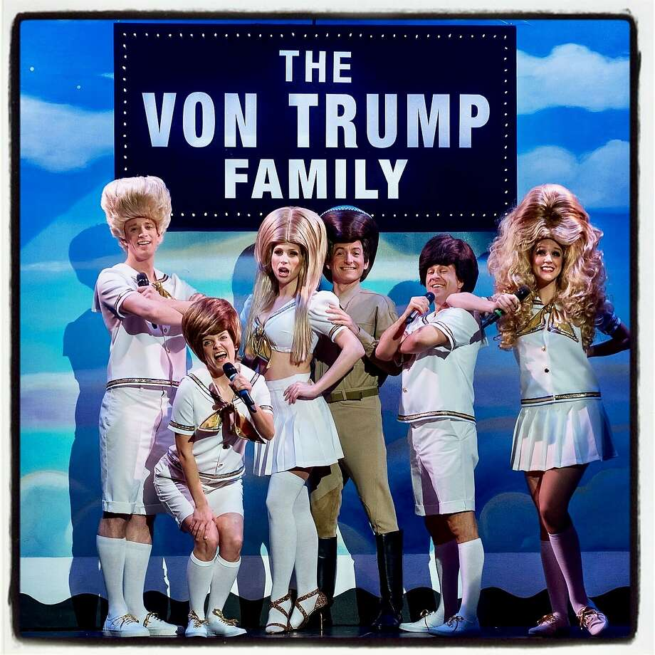 """Beach Blanket Babylon"" cast members transformed into the Von Trump Family Singers at the New Year's Eve show. Photo: Rick Markovich"