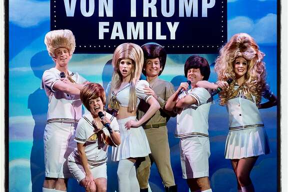 Beach Blanket Babylon cast members transformed into the Von Trump Family singers at the New Year's Eve show. Dec 2016.