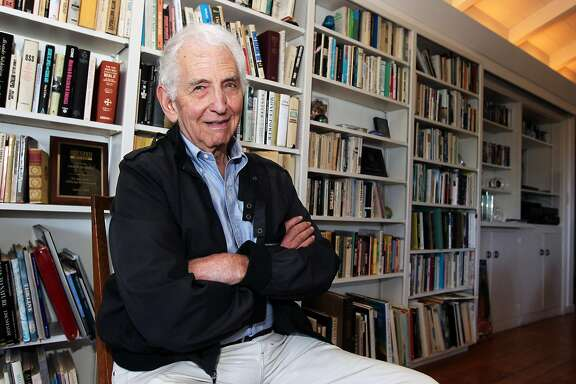Daniel Ellsberg poses for a portrait at his home in Kensington, Calif., on Saturday, July 13, 2013. Ellsberg, famous for leaking the Pentagon Papers in 1971, is now in the news defending similar actions by both Bradley Manning and Edward Snowden.