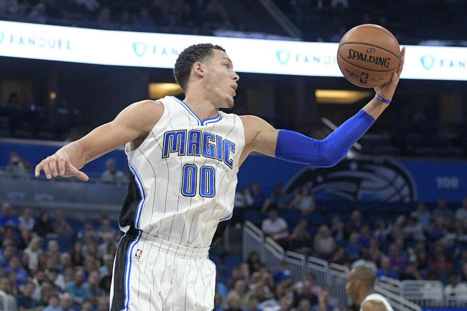 For the second-consecutive night, an opponent sought to defend James Harden with size, as the Magic went with 6-8 Aaron Gordon on Harden a night after Harden went against Oklahoma City's 6-7 Andre Roberson. Photo: Phelan M. Ebenhack/Associated Press