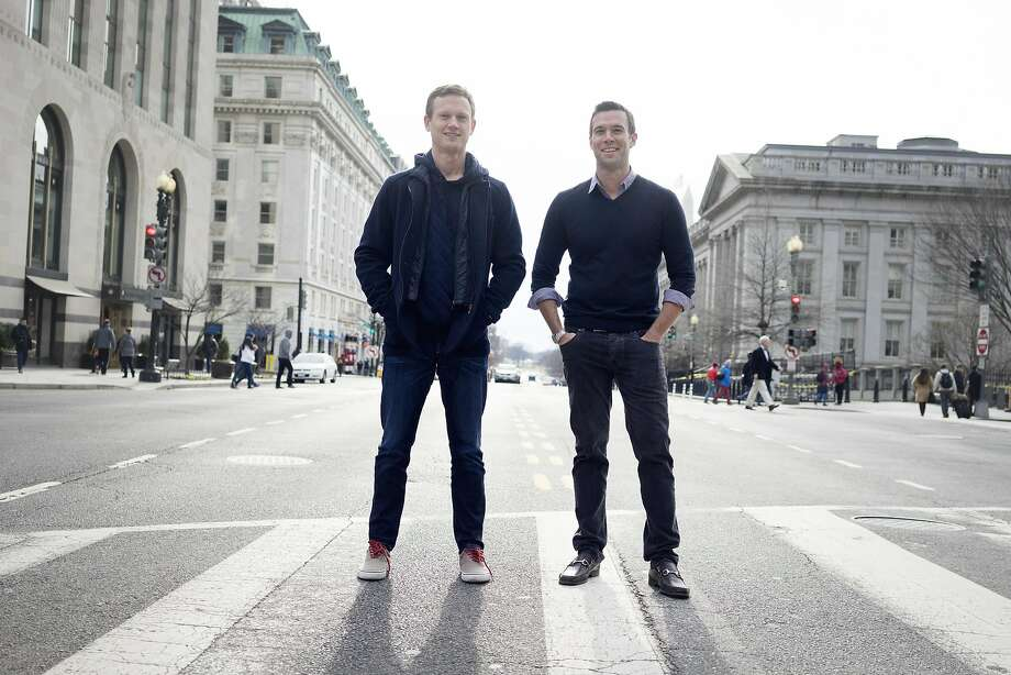 Tommy Vietor (left) and Jon Favreau will use their new podcast and firm, Crooked Media, to counter the Trump administration. Photo: Mike Kepka, By Mike Kepka/special To The Chronicle