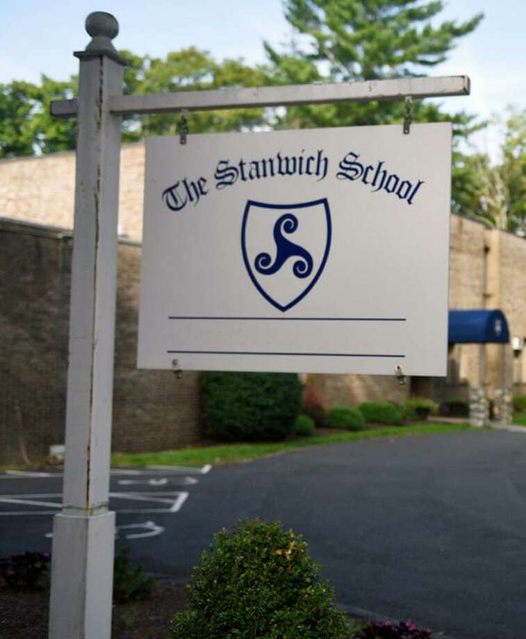 A Stanwich School sign. Photo: Tyler Sizemore / Hearst Con