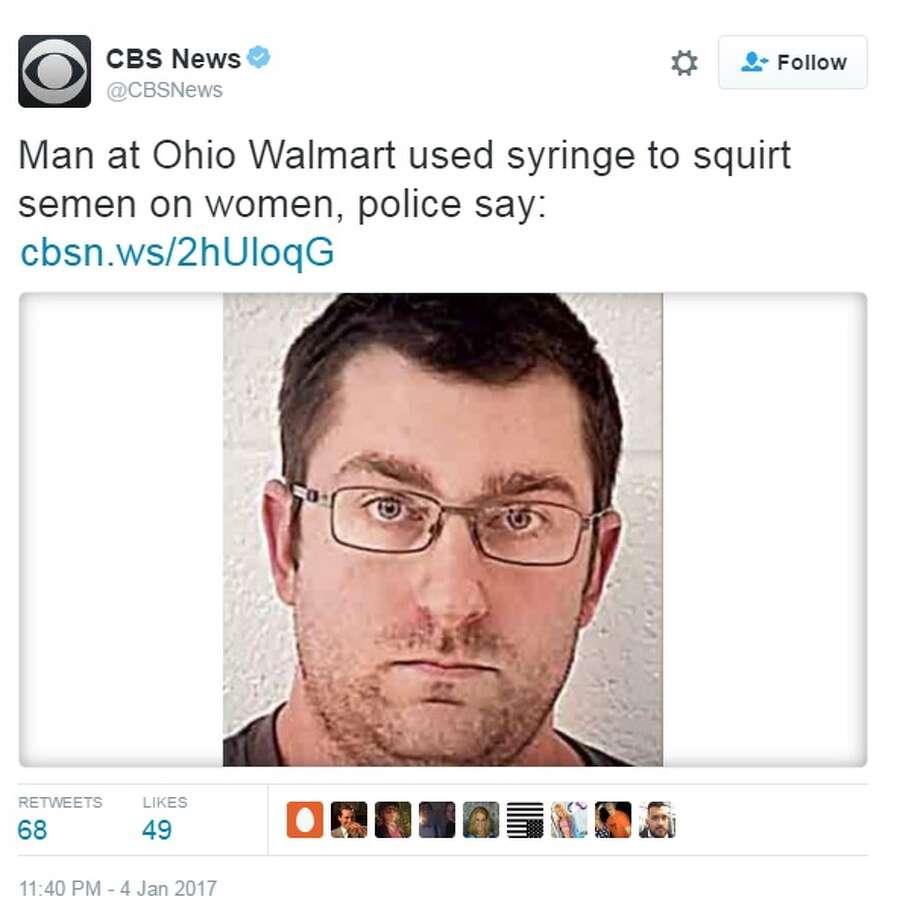 97b8591a54 Report  Man accused of using syringe to spray semen on women in Ohio Walmart