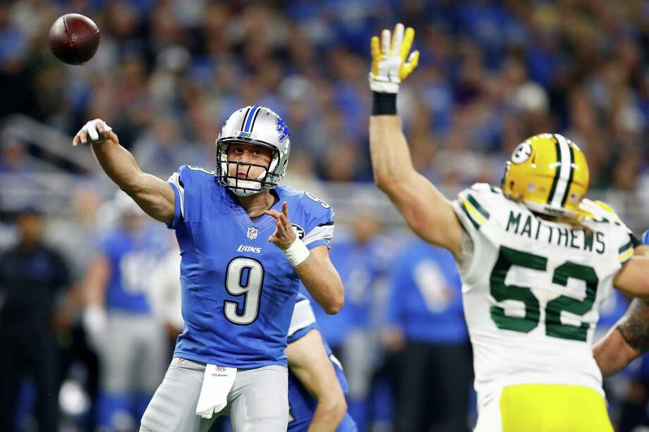 Quarterback Matthew Stafford and his teammates will try to earn the Lions' first playoff victory on the road since 1957 when they travel to Seattle to play the Seahawks on Saturday night. Photo: Gregory Shamus, Staff / 2016 Getty Images