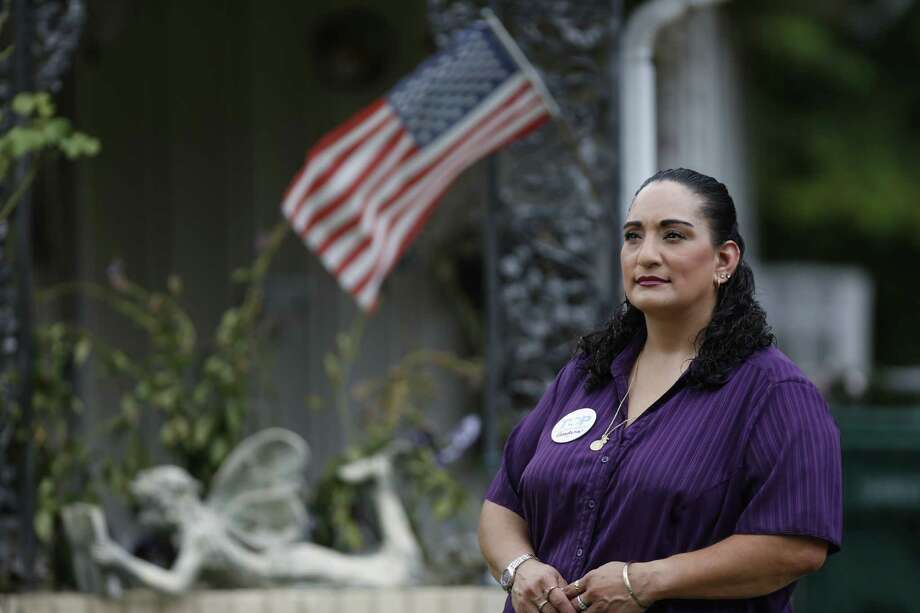 Patricia Gonzales, a plaintiff in the federal lawsuit against Pasadena, says she is pleased with the ruling that orders the city to revert to its previous election system. Photo: Steve Gonzales, Staff / © 2015 Houston Chronicle