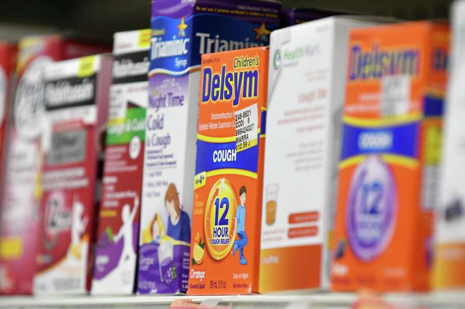 Cold medicine is displayed on the shelves at Marra's Pharmacy on Friday, Jan. 6, 2017, in Cohoes, N.Y. (Will Waldron/Times Union) Photo: Will Waldron / 20039345A