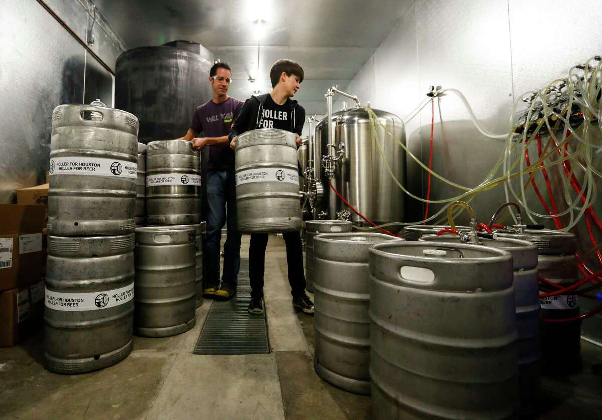 John and Kathryn Holler at their Holler Brewing Co.