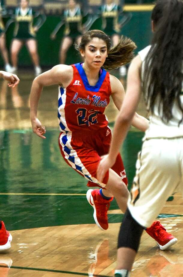 Kait Roycroft scored 14 points for Martin as the Lady Tigers' rally on Friday night fell short at Nixon. Photo: Danny Zaragoza /Laredo Morning Times / Laredo Morning Times