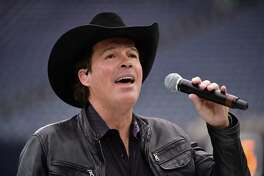 Country artist Clay Walker rehearses prior to an AFC Wild Card NFL football game between the Houston Texans and the Oakland Raiders, Saturday, Jan. 7, 2017, in Houston. (AP Photo/Eric Christian Smith)