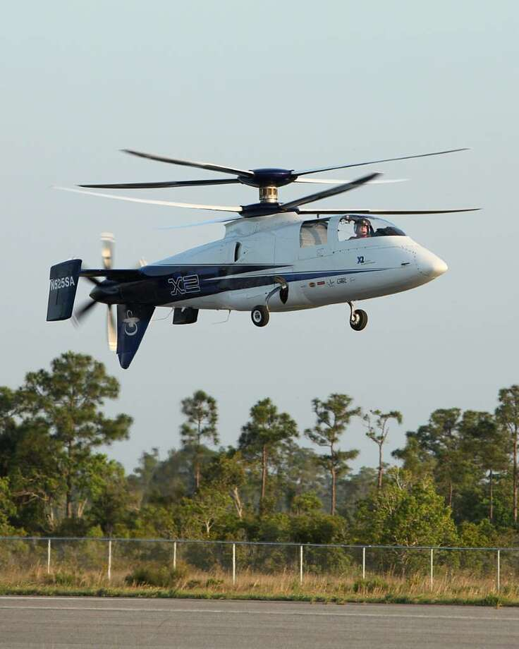 Sikorsky Aircraft's X2 helicopter was clocked at 181 knots Tuesday putting the 250 knot mark clearly on the horizon. Photo: Contributed Photo / Connecticut Post Contributed