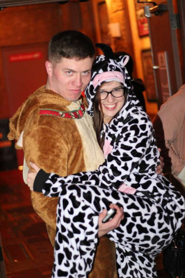 Despite the wicked cold weather First Friday events continued downtown and in the South Town area Friday, Jan. 6, 2017, including at the Aztec Lounge, which also saw overflow from the Onesie Pub Crawl. Photo: By Jason Gaines For MySA