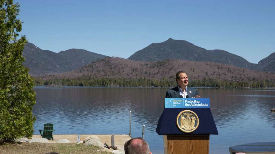 May 10, 2015-North Hudson, NY- Governor Andrew M. Cuomo announced the completion of the state's largest Adirondack land acquisition in more than 100 years, with the purchase of the 20,758-acre Boreas Ponds Tract. This is the final acquisition in a series of land purchases the state has completed under a 2012 agreement with The Nature Conservancy to conserve 69,000 acres of land previously owned primarily by the former Finch, Pruyn & Company paper company. The Tract is located primarily in the town of North Hudson in Essex County, south of the High Peaks Wilderness Area. Photo: Philip Kamrass / Office of Governor Andrew M. Cuomo