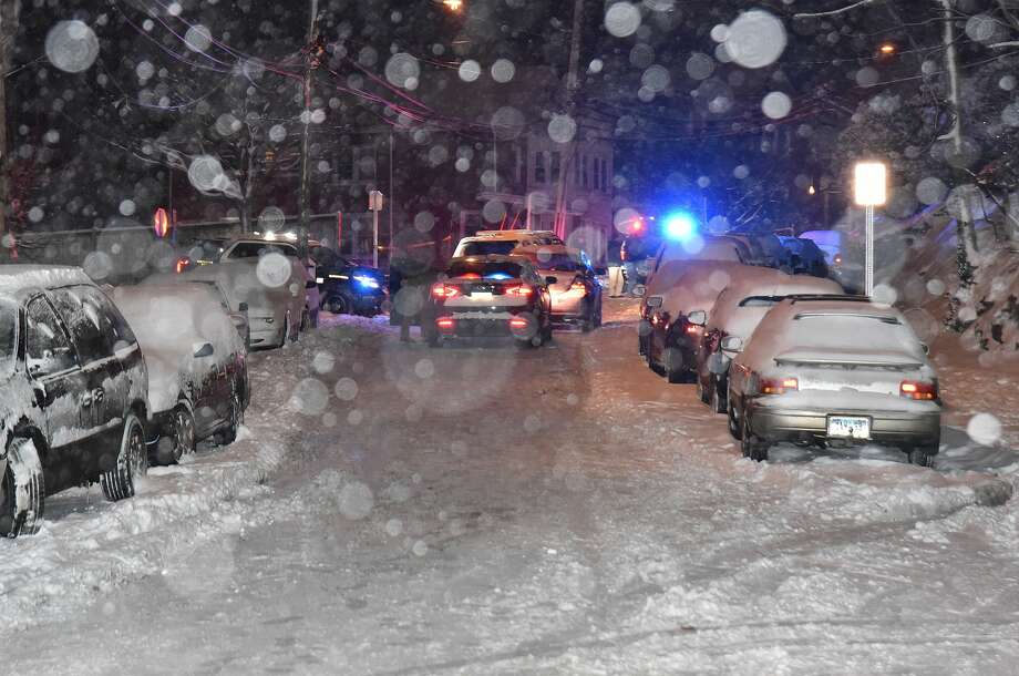 A man was shot Saturday night outside a residence on Garner Street in South Norwalk, according to police broadcasts. Photo: Harold F. Cobin