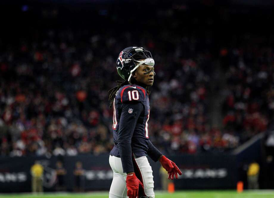 Houston Texans wide receiver DeAndre Hopkins (10) is seen during the second quarter of an AFC Wild Card Playoff game at NRG Stadium Saturday, Jan. 7, 2017, in Houston. Photo: Jon Shapley, Houston Chronicle / © 2015  Houston Chronicle