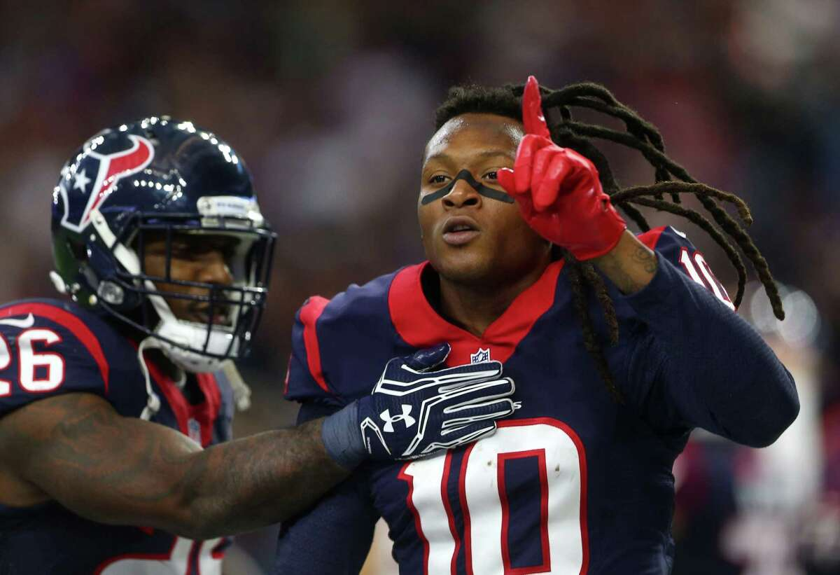 With his second-quarter touchdown catch Saturday, receiver DeAndre Hopkins knows the Texans are No. 1 at NRG Stadium.