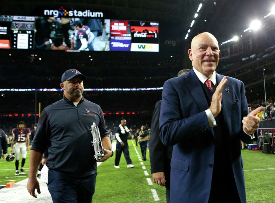 "Owner Bob McNair applauded the ""good, clean, smart football"" the Texans played in Saturday's 27-14 win over the Raiders. Photo: Brett Coomer, Staff / © 2017 Houston Chronicle"