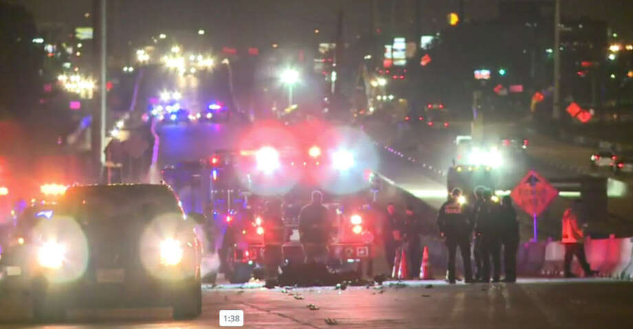 The driver of a motorcycle was killed on impact after crashing into a dumptruck. Photo: Metro Video